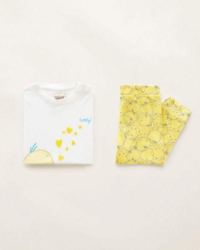 Пижама трикотажная с принтом Mango Kids
