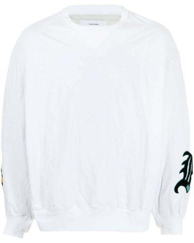Biały sweter bawełniany z długimi rękawami Facetasm