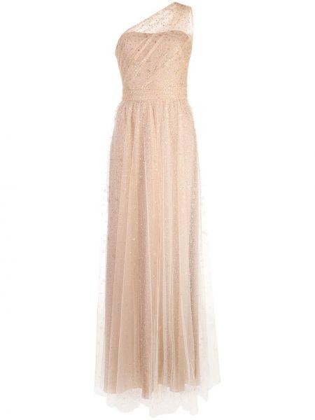 Платье на одно плечо длинное Marchesa Notte