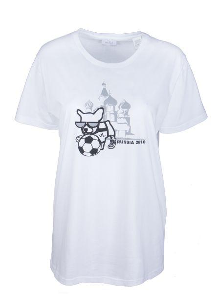 Хлопковая белая футбольная футболка с круглым вырезом Van Laack