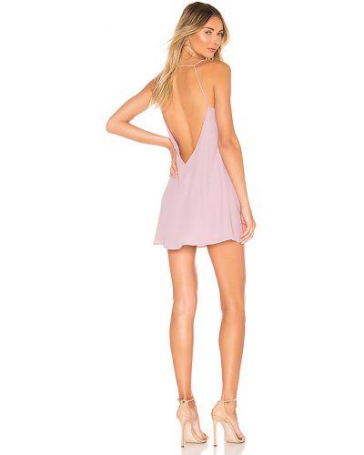 Fioletowy sukienka prążkowany Superdown