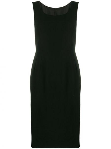 Облегающее черное платье без рукавов Dolce & Gabbana