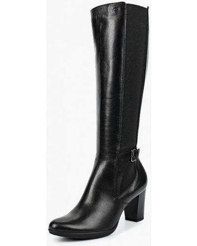 Кожаные сапоги черный Wojas