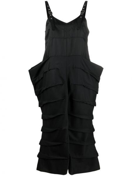 Шерстяное черное платье с вырезом Comme Des Garçons Noir Kei Ninomiya