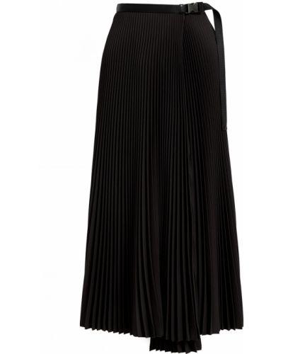 Плиссированная юбка - черная Prada