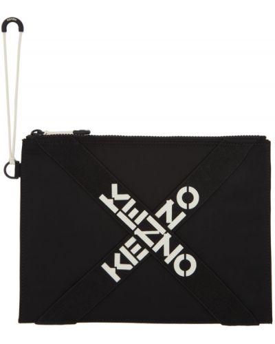 Nylon z paskiem czarny sport torba z gniazdem Kenzo