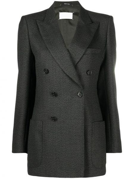 Шерстяной однобортный удлиненный пиджак с карманами Maison Margiela