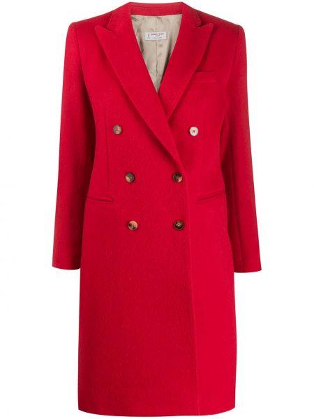 Длинное пальто с капюшоном на пуговицах Alberto Biani
