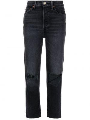 Хлопковые черные джинсы классические с карманами Re/done