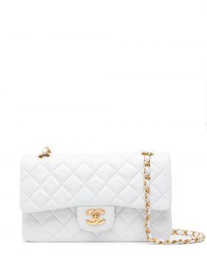 Кожаная белая сумка на плечо винтажная Chanel Pre-owned
