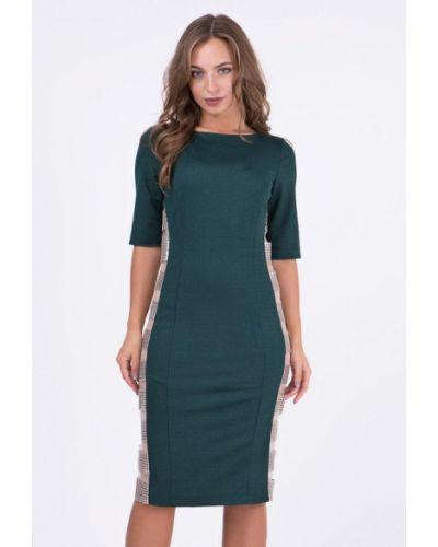 Вечернее платье осеннее зеленый Ricamare