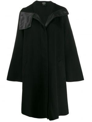 Черное шерстяное пальто на кнопках винтажное Jean Paul Gaultier Pre-owned