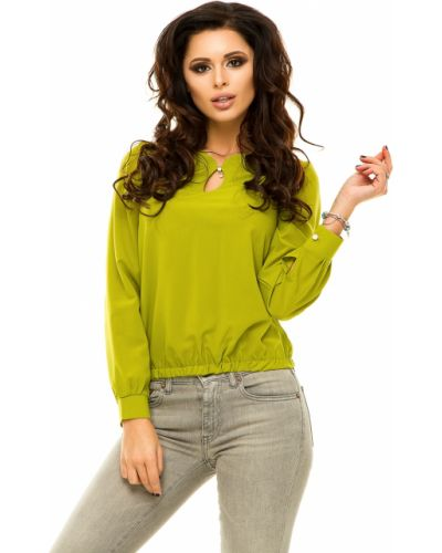 Блузка зеленый однотонная Lacywear