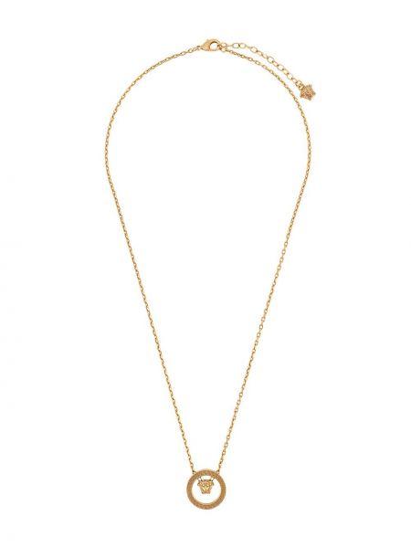 Подвеска металлическая на шнурках винтажная золотая Versace