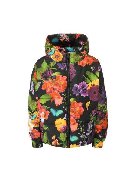 Утепленная куртка стеганая с розами Alice + Olivia