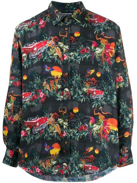 Классическая черная рубашка с воротником на пуговицах Mauna Kea