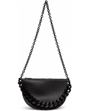 Skórzana torebka na łańcuszku czarna Kara