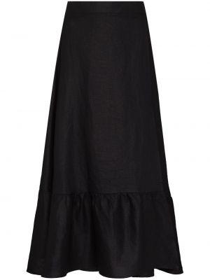 Льняная юбка миди - черная Reformation
