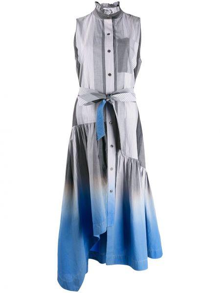 Платье макси в полоску на пуговицах Derek Lam 10 Crosby