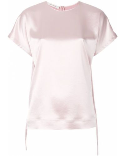 lace-up sleeves T-shirt Cédric Charlier