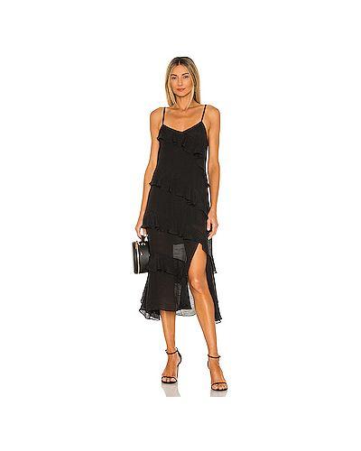 Черное платье на бретелях на молнии Minkpink