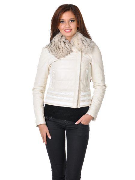 Куртка из плащевки - белая Mor`a