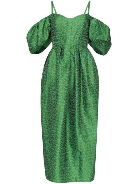 Платье миди на молнии с открытыми плечами Rosie Assoulin