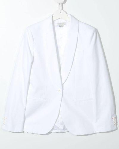 Biały garnitur bawełniany zapinane na guziki Stella Mccartney Kids