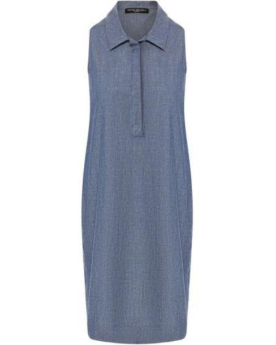 Джинсовое платье с карманами синее Pietro Brunelli