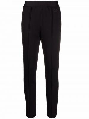 Черные трикотажные брюки Alberta Ferretti