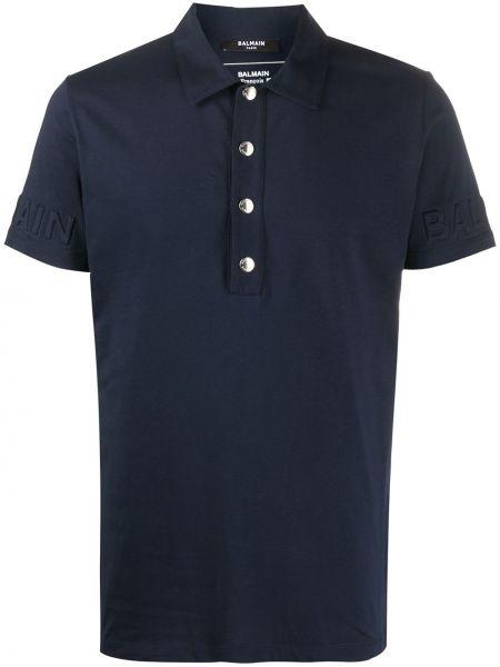 Koszula krótkie z krótkim rękawem klasyczna z logo Balmain