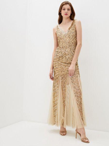 Вечернее платье золотое Goddiva