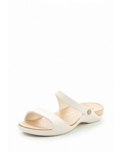 Сланцы белые Crocs