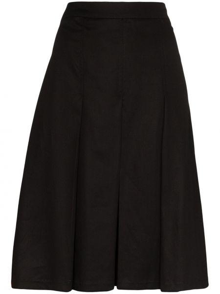 Черная расклешенная плиссированная юбка Carcel