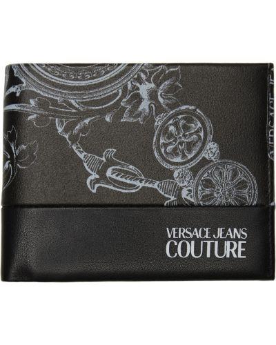 Portfel skórzany - biały Versace Jeans Couture