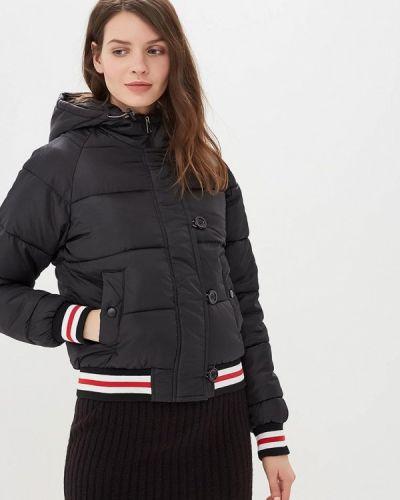 Утепленная куртка демисезонная черная Jennyfer