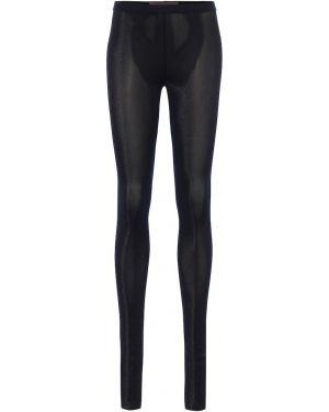 Czarne legginsy z wiskozy Rick Owens