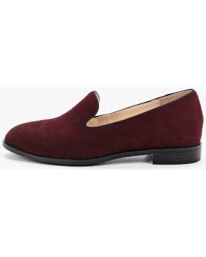 Лоферы красные на каблуке Vitacci