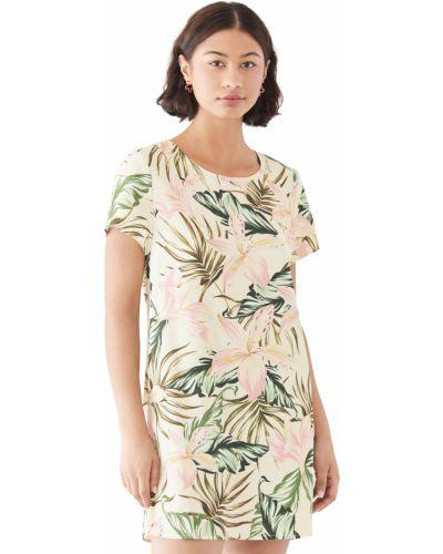 Платье в цветочный принт с декольте с короткими рукавами Minkpink