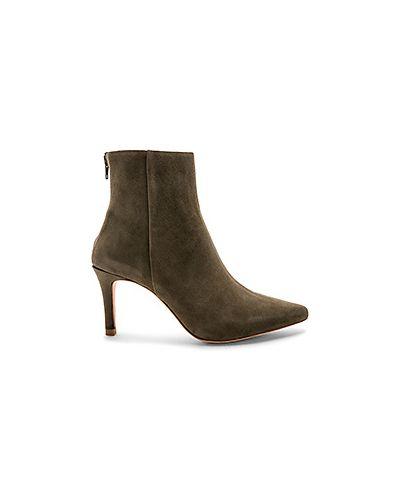 Ботинки на каблуке замшевые оливковый Raye