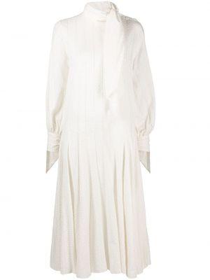 Бархатное с рукавами платье макси с завязками By Malene Birger
