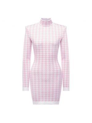 Платье из вискозы - розовое Balmain