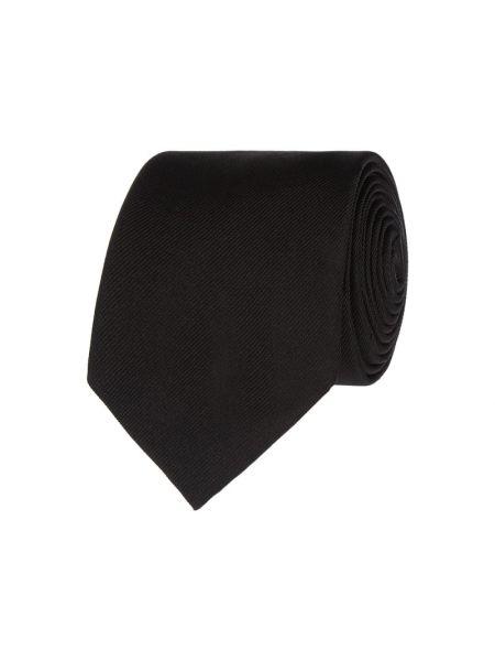 Czarny jedwab krawat Boss
