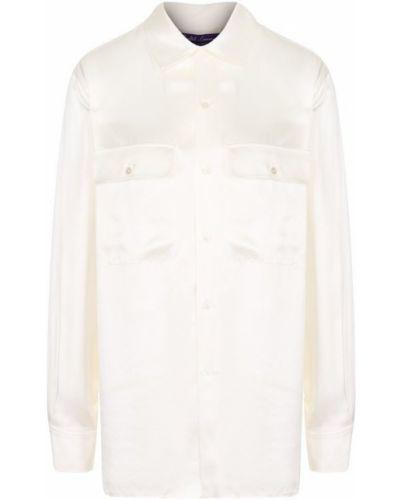 Блузка шелковая однотонная Ralph Lauren