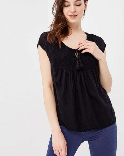 Блузка с коротким рукавом весенний черная Roxy