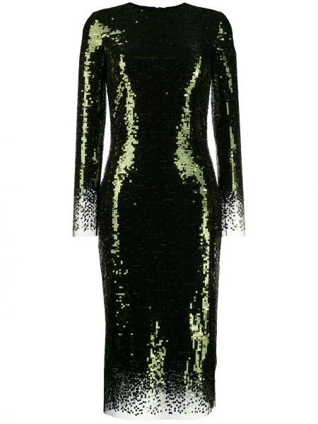 Платье миди с пайетками зеленый Ermanno Scervino