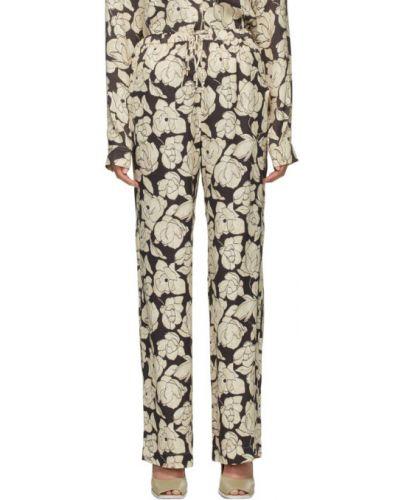 Прямые коричневые брюки с карманами Nanushka