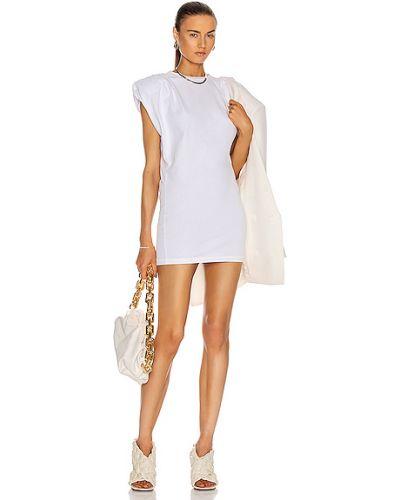 Повседневное белое платье мини с оборками Grlfrnd
