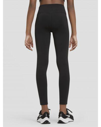 Черные леггинсы с высокой посадкой с карманами Nike