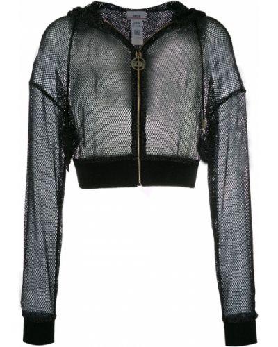 Черная короткая куртка с капюшоном на молнии Gcds
